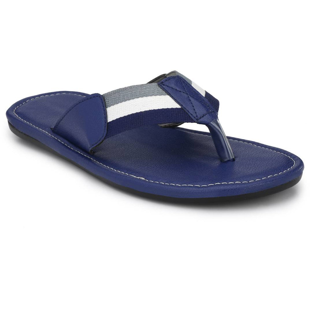 Blue MLK PU Slipper For Men - MYLAZYKART