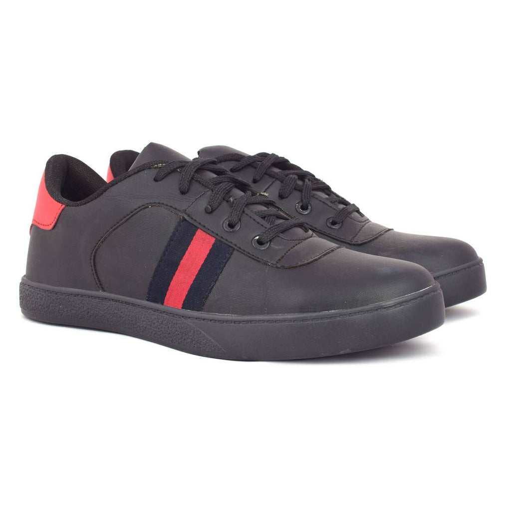 Black Stylish MLK Synthetic Casual Shoes - MYLAZYKART