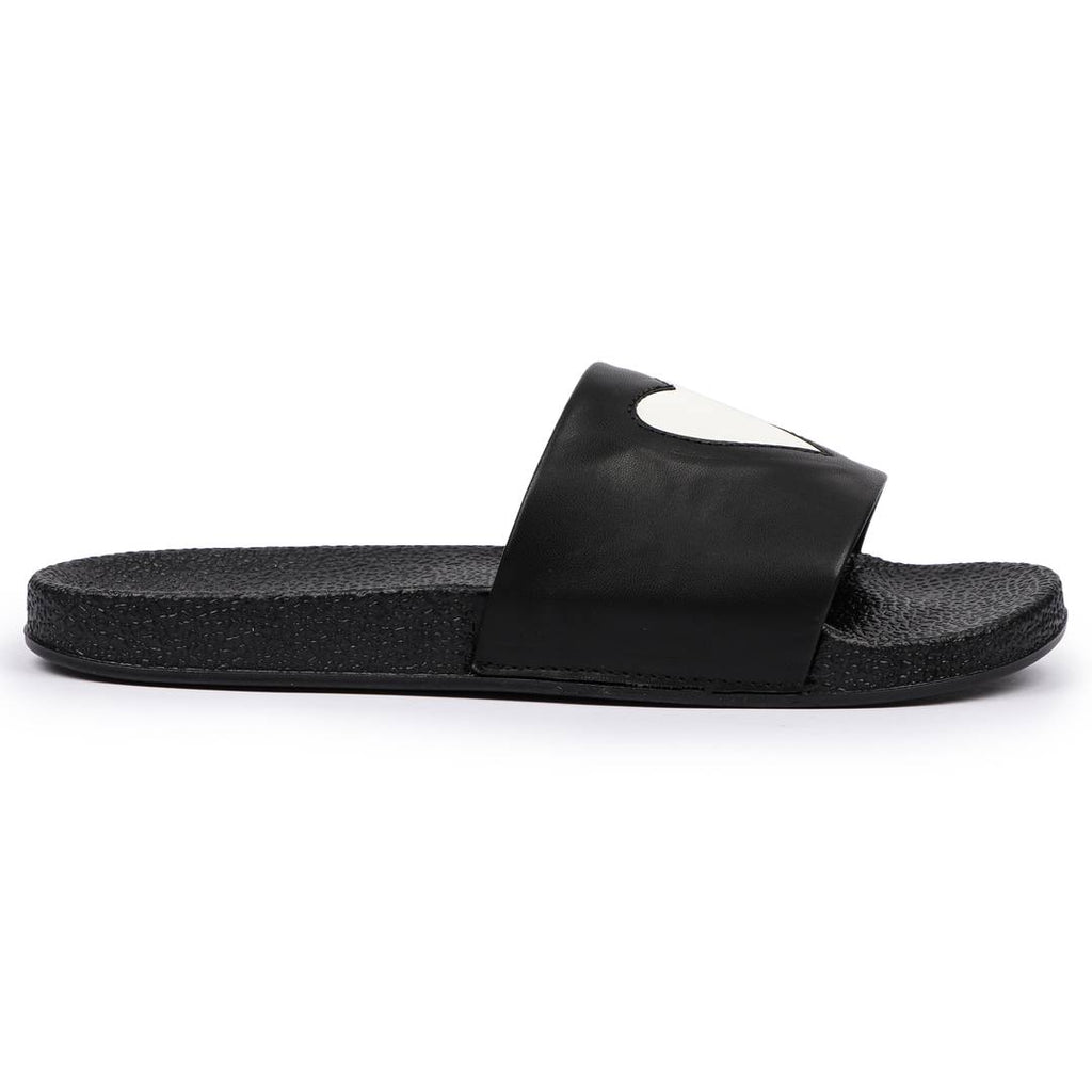 Men's Black EVA Self Design Flip Flops - MYLAZYKART