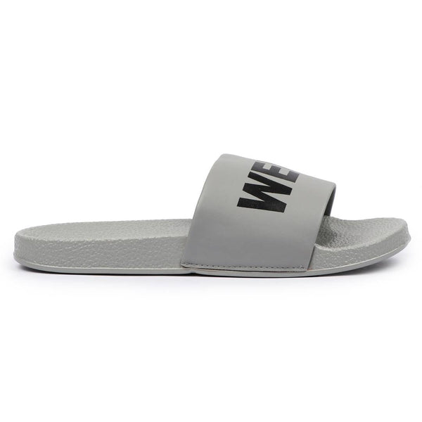 Stylish & Creative Grey MLK Sliders Flip-Flops - MYLAZYKART