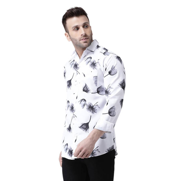 Stylish Multicoloured Cotton Blend Printed Regular Fit Casual Shirt For Men - MYLAZYKART