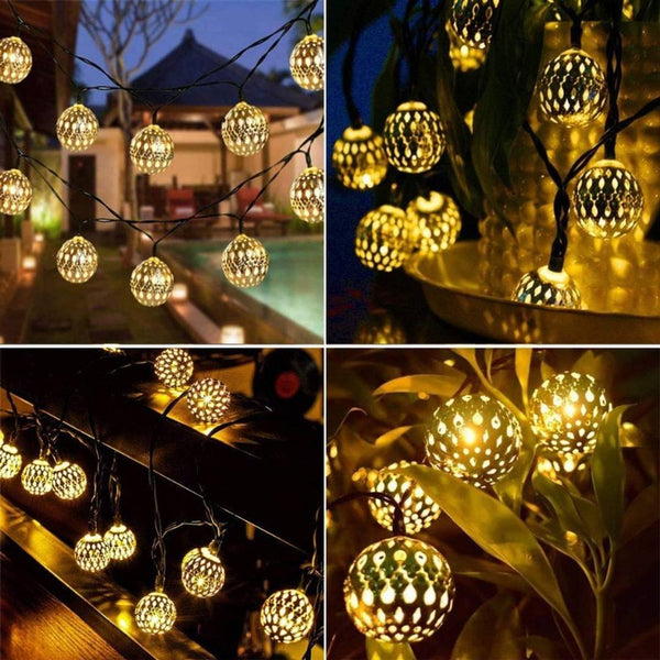 15 LED Lights, Beautiful Good Quality Metal Decor Light For Diwali, Wedding, Party, Home Decoration (1Pc) (Golden) - MYLAZYKART