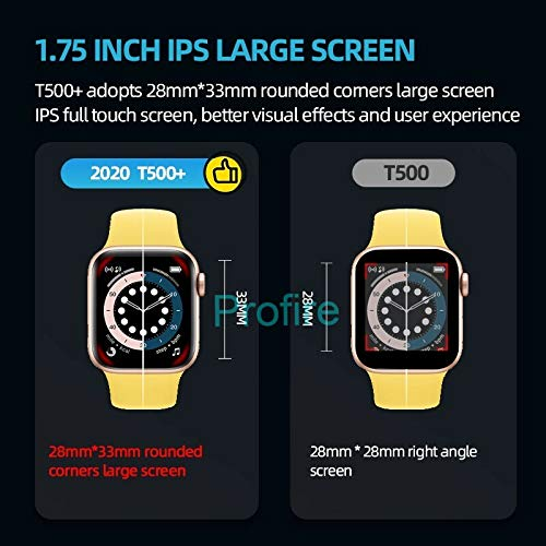MLK T500 PLUS+ SERIES 6 SMART WATCH (FULL SCREEN DISPLAY WITH GAME ) - MYLAZYKART