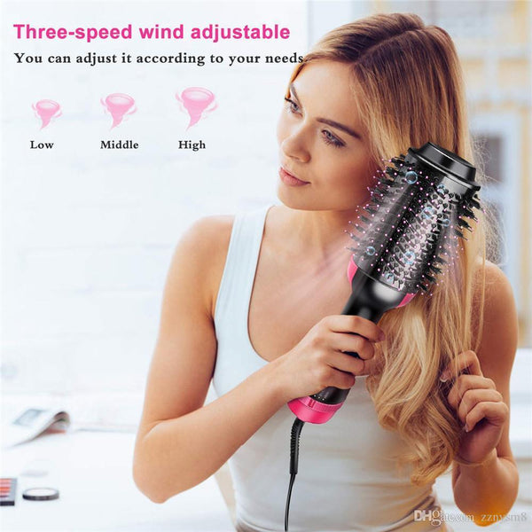 Hair Dryer, Straightener ,Curler and Volumizer Brush (4 IN 1 ) - MYLAZYKART