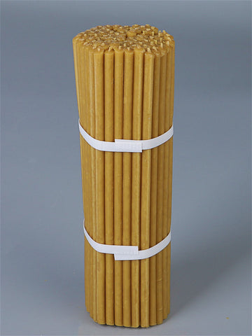 Beeswax candles - set of 50