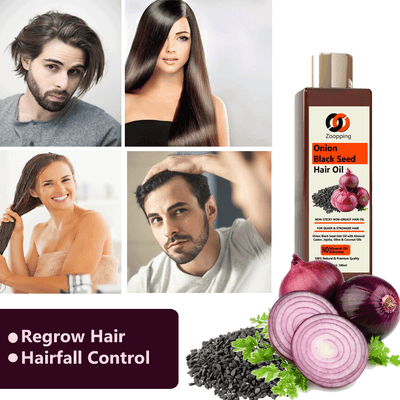 Zoopping Onion Black Seed Hair Oil