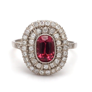 1.08ct Oval Cut, Pink Spinel Ring