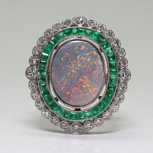 SOLD - 2.22ct Oval, Cabochon Cut Opal Ring
