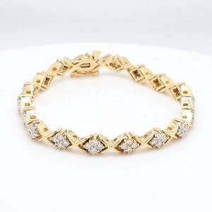 1.40ctw Round Brilliant Cut Diamond Bracelet