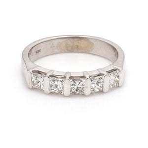 0.90ctw Princess Cut Diamond Band