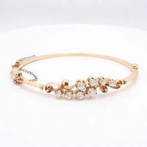 1.50ctw Old Mine Cut Diamond Bracelet