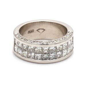 2.20ctw Princess Cut Diamond Band