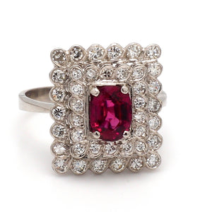 1.05ct Oval Cut Ruby Ring