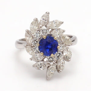 SOLD - 0.95ct Round Brilliant Cut, Sapphire Ring