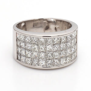 4.25ctw Princess Cut Diamond Band