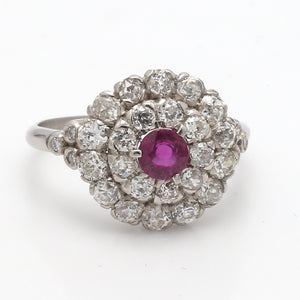 0.40ct Round Brilliant Cut Ruby and Diamond Ring