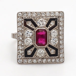 SOLD - 0.60ct Emerald Cut Ruby Ring