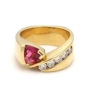 Coffin and Trout, 1.00ct Trillion Cut Tourmaline Ring