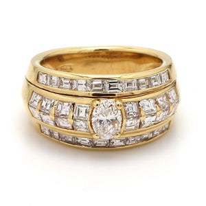 2.35ctw Oval and Carre Cut Diamond Band