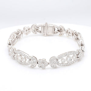 3.95ctw Round Brilliant Cut Diamond Bracelet
