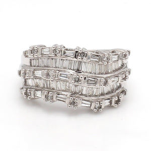 2.50ctw Baguette and Round Brilliant Cut Diamond Band