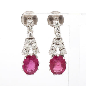3.36ctw Oval Cut, Pink Tourmaline Earrings