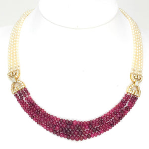 Cartier, Natural Pearl, Ruby, and Diamond Necklace