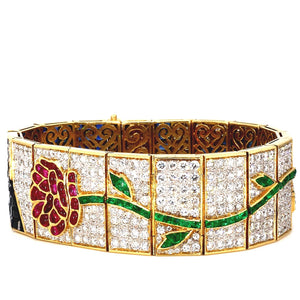 11.00ctw Diamond, Sapphire, Emerald, and Ruby Bracelet