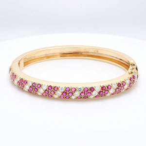 6.00ctw Round Brilliant Cut Ruby and Diamond Bracelet