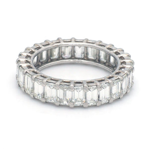 4.07ctw Emerald Cut Diamond Eternity Band