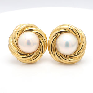 Mikimoto, 13mm Mabe Pearl Earrings