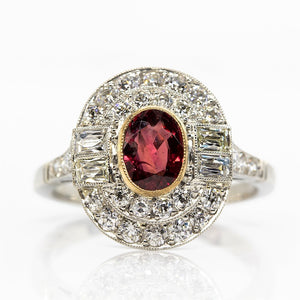 SOLD - 0.91ct Oval Cut Ruby Ring