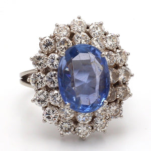 6.00ct Oval Cut, No Heat, Sapphire Ring - AGL Certified
