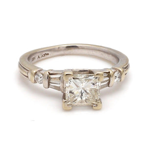 1.00ct Princess Cut Diamond Ring, Signed A. Jaffe