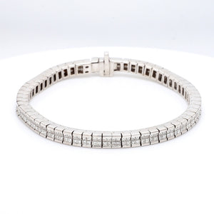 8.00ctw Princess Cut Diamond Bracelet