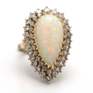 8.76ct Pear Shaped Opal Ring