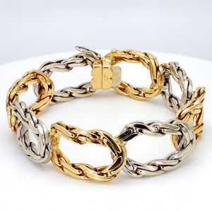 Cartier, Two Tone Gold Bracelet