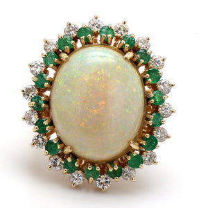 8.00ct Oval Cut Opal Ring