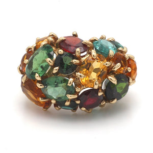 SOLD - Multi Gemstone Cluster Ring