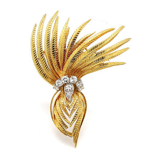 Cartier, 1.00ctw Round Brilliant Cut Diamond Brooch