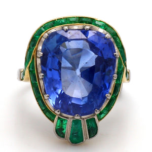 19.08ct Cushion Cut, No Heat, Ceylon Sapphire Ring - AGL Certified