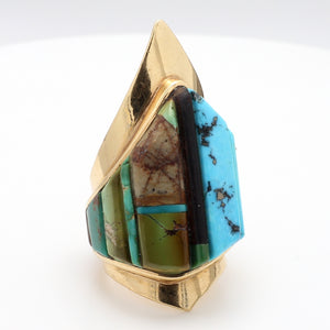 Charles Loloma, Turquoise Inlay Ring