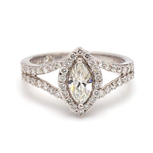 0.49ct I SI2 Marquise Cut Diamond Ring - GSI Certified