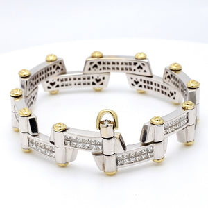 SOLD - 6.00ctw Princess Cut Diamond Bracelet
