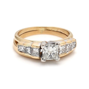 0.81ct I SI1 Princess Cut Diamond Ring - GIA Certified