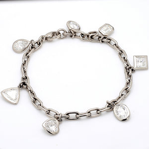 7.25ctw Multi Shape Diamond Bracelet