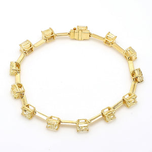 12.97ctw Fancy Yellow, Radiant Cut Diamond Bracelet