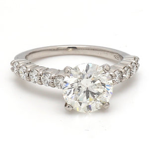 SOLD - 2.78ct I I2 Round Brilliant Cut Diamond Ring - GIA Certified