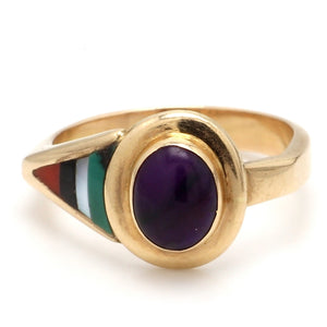 Oval Cabochon Cut Sugilite Ring