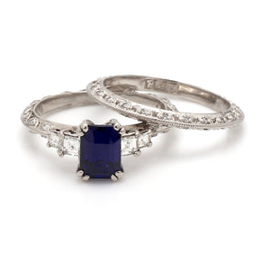 Tacori, Sapphire and Diamond Ring Set